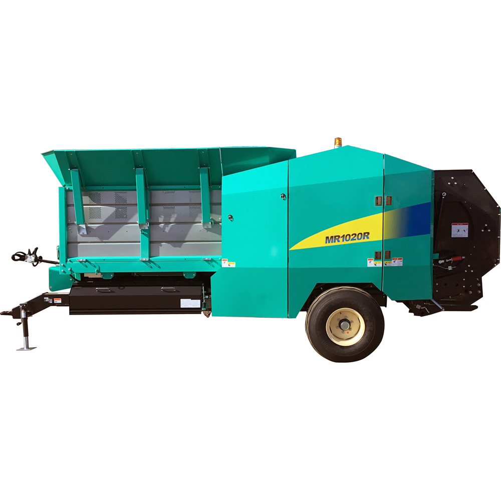 Round Baler for Chopped Material